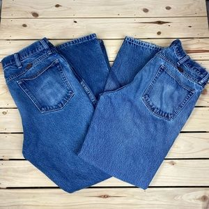 Bundle of 2 Men's Distressed Rustler Jeans